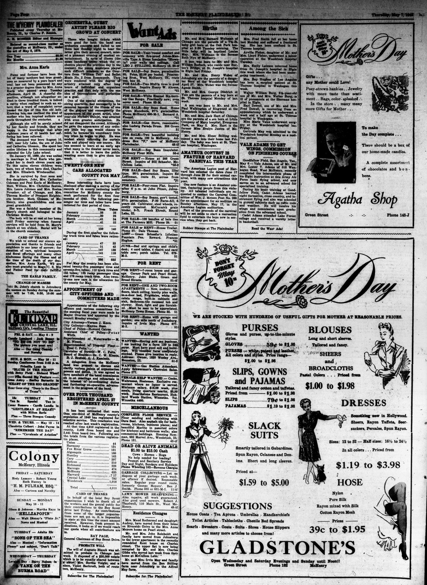 McHenry Plaindealer (McHenry, IL), 7 May 1942