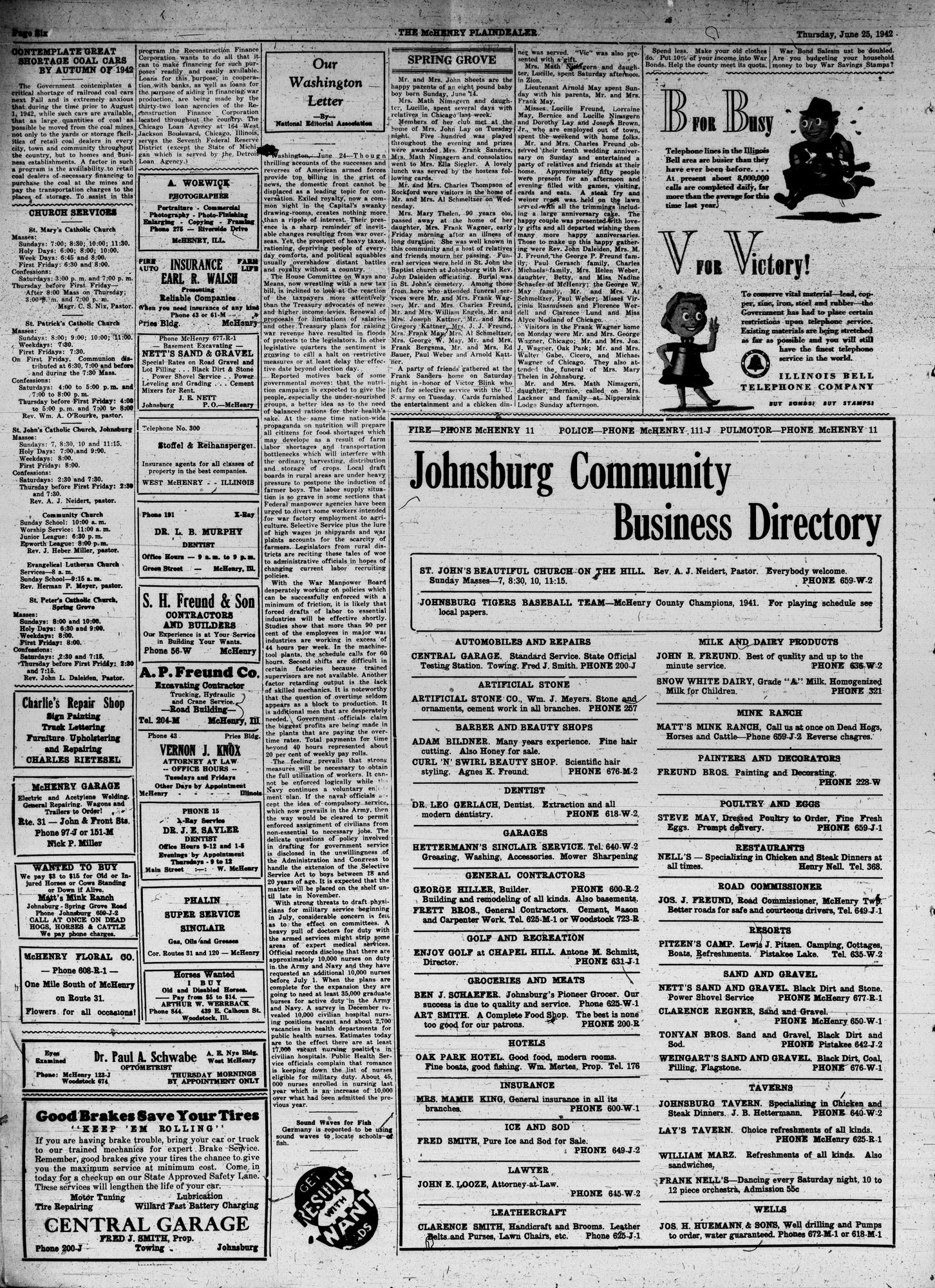 McHenry Plaindealer (McHenry, IL), 25 Jun 1942
