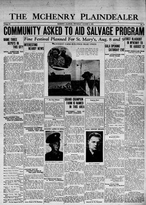 McHenry Plaindealer (McHenry, IL), 6 Aug 1942