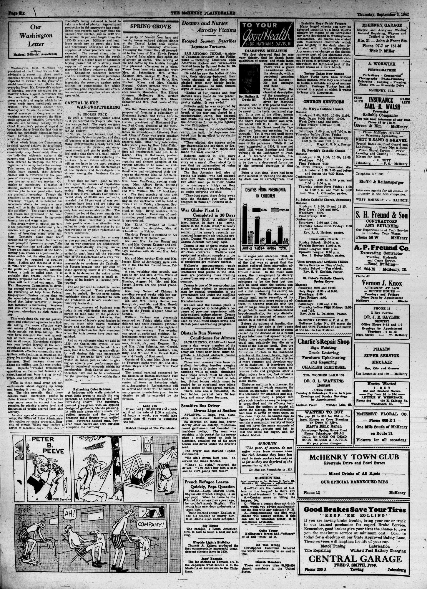 McHenry Plaindealer (McHenry, IL), 3 Sep 1942