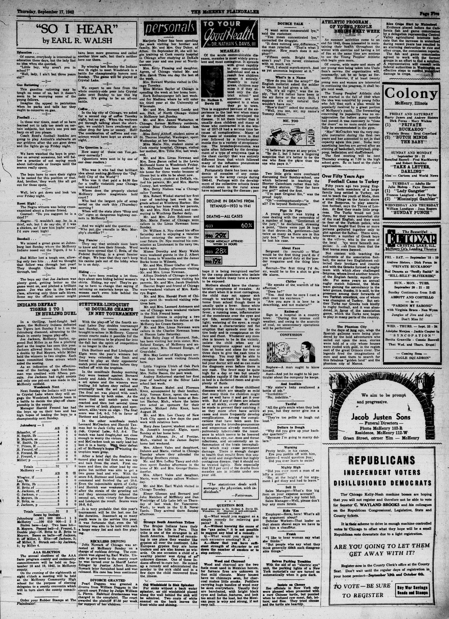 McHenry Plaindealer (McHenry, IL), 17 Sep 1942