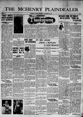 McHenry Plaindealer (McHenry, IL), 26 Nov 1942