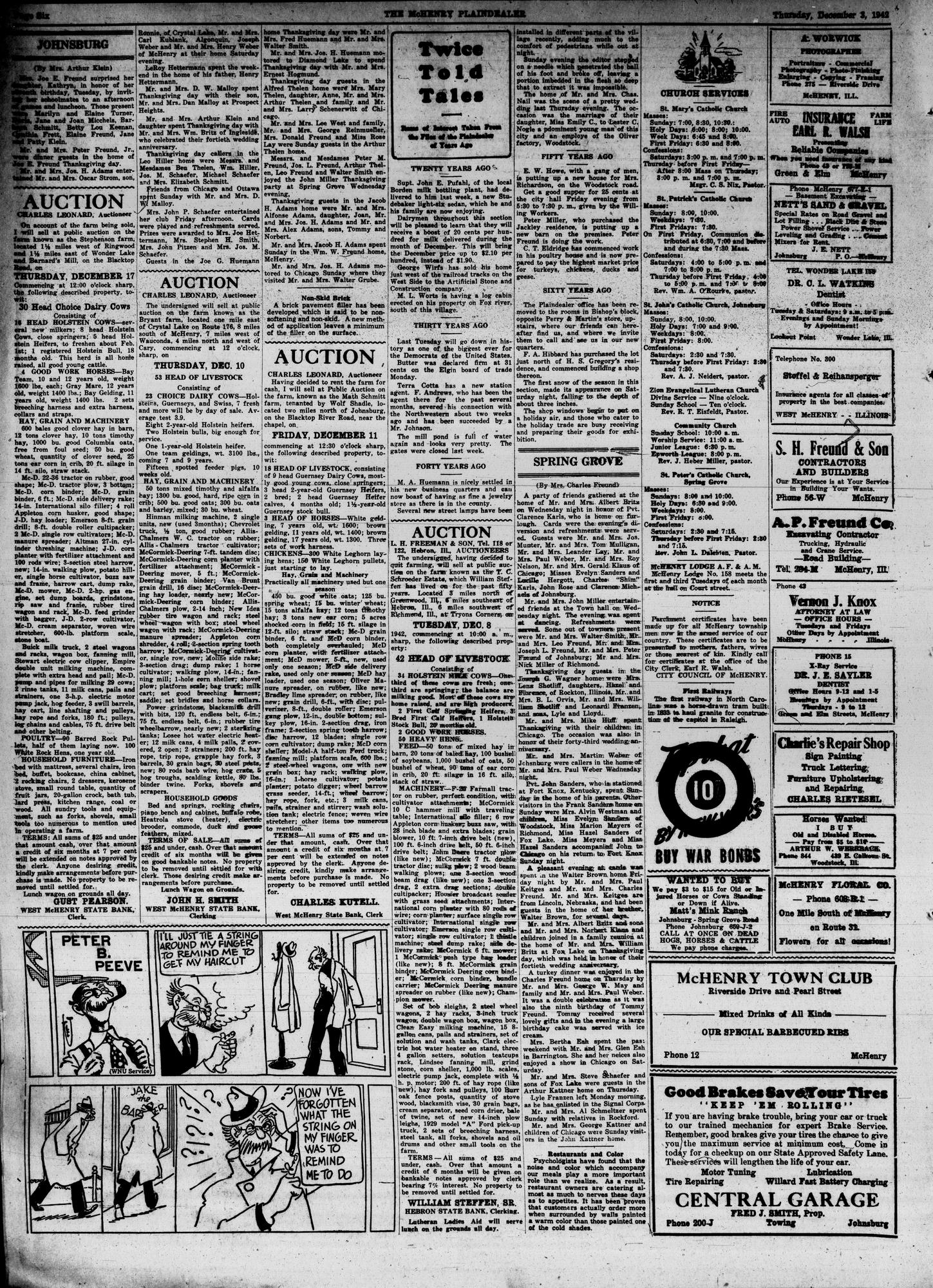 McHenry Plaindealer (McHenry, IL), 3 Dec 1942