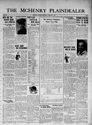 McHenry Plaindealer (McHenry, IL), 7 Oct 1943