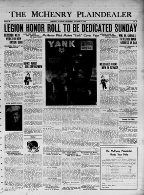 McHenry Plaindealer (McHenry, IL), 14 Oct 1943