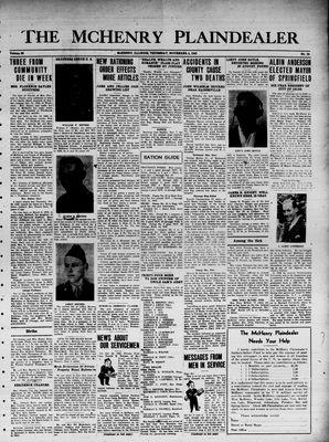 McHenry Plaindealer (McHenry, IL), 4 Nov 1943
