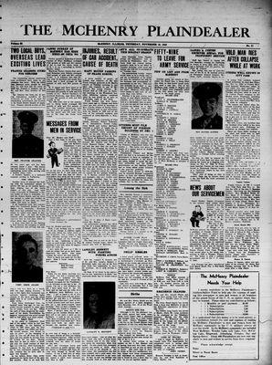 McHenry Plaindealer (McHenry, IL), 18 Nov 1943