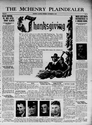 McHenry Plaindealer (McHenry, IL), 25 Nov 1943