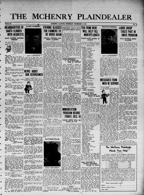 McHenry Plaindealer (McHenry, IL), 9 Dec 1943