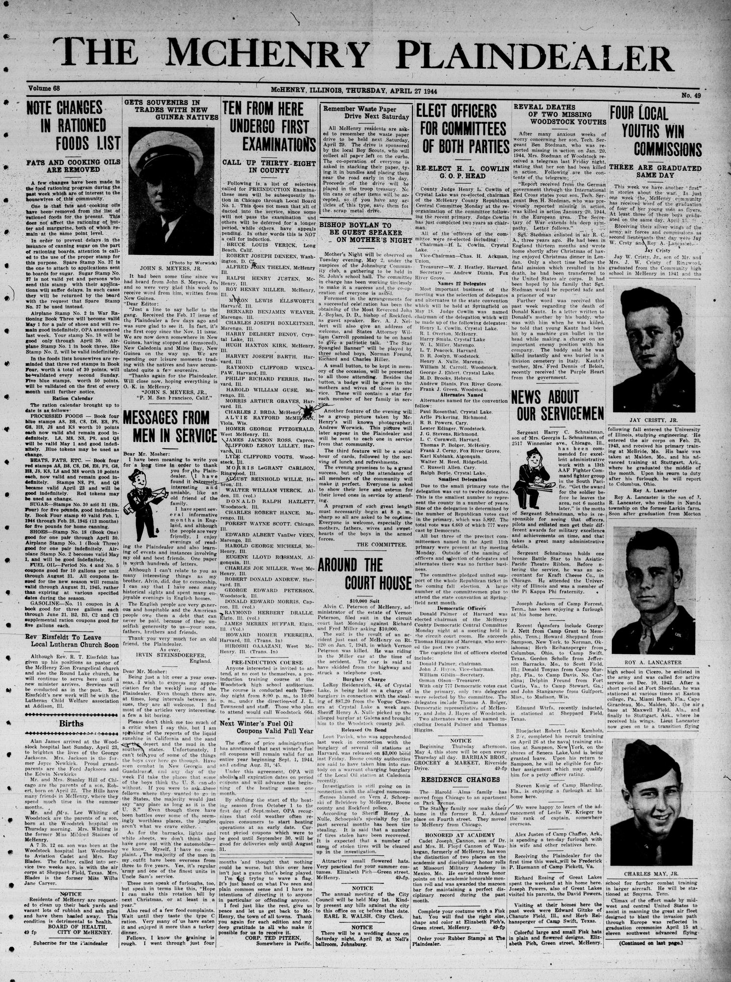 McHenry Plaindealer (McHenry, IL), 27 Apr 1944