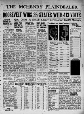 McHenry Plaindealer (McHenry, IL), 9 Nov 1944