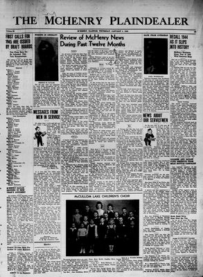 McHenry Plaindealer (McHenry, IL), 4 Jan 1945