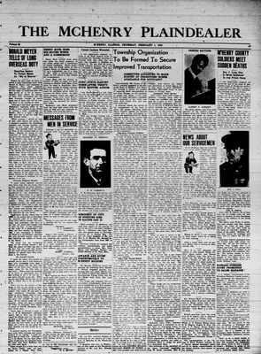 McHenry Plaindealer (McHenry, IL), 1 Feb 1945