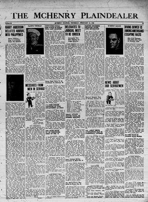 McHenry Plaindealer (McHenry, IL), 15 Feb 1945