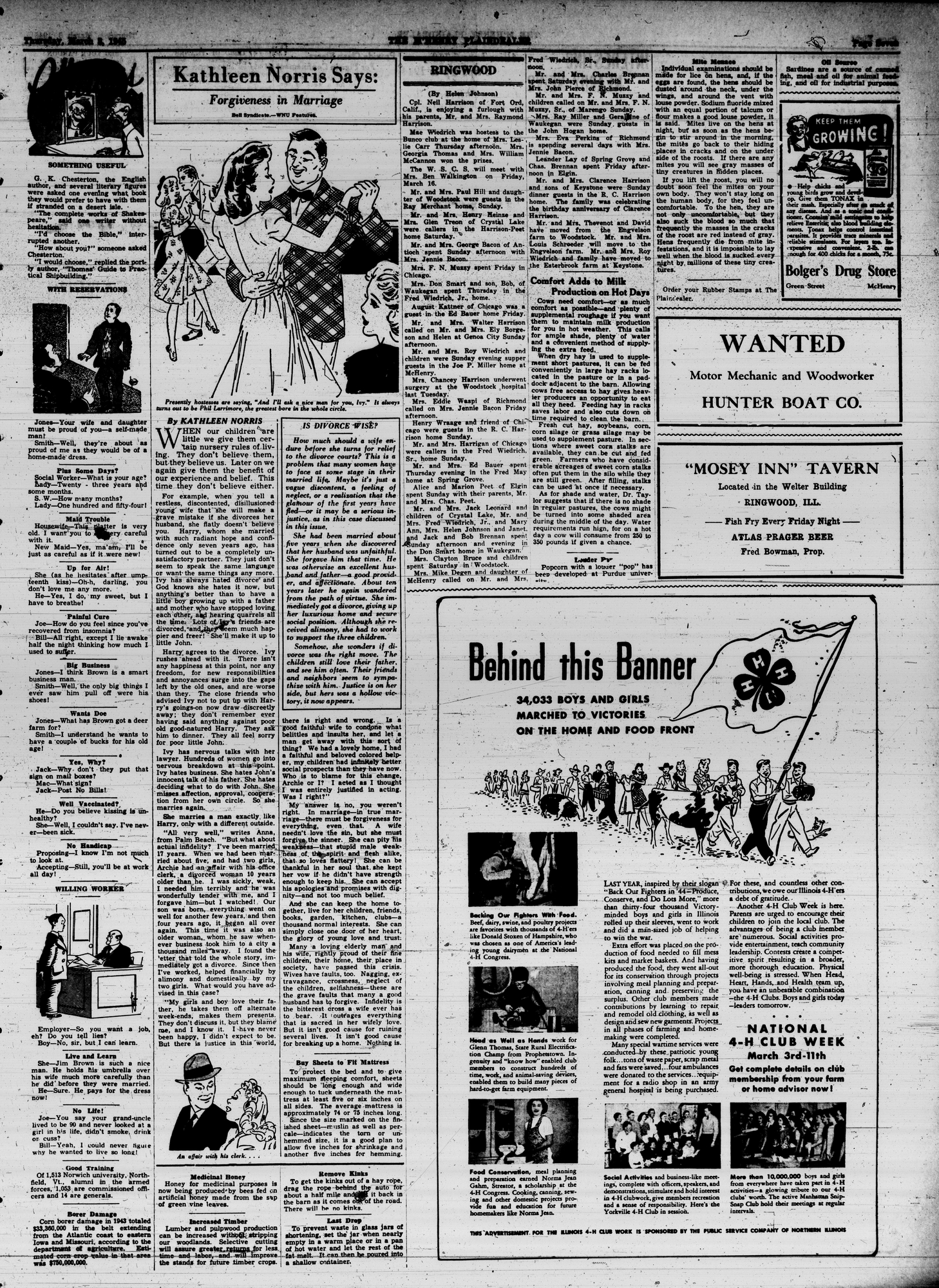 McHenry Plaindealer (McHenry, IL), 8 Mar 1945