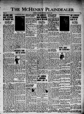 McHenry Plaindealer (McHenry, IL), 26 Jul 1945