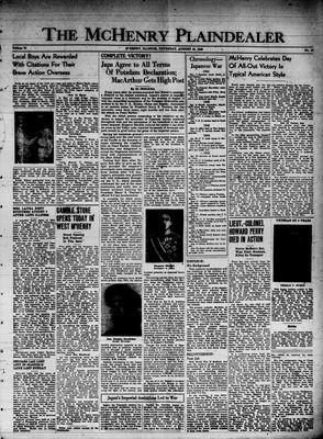 McHenry Plaindealer (McHenry, IL), 16 Aug 1945