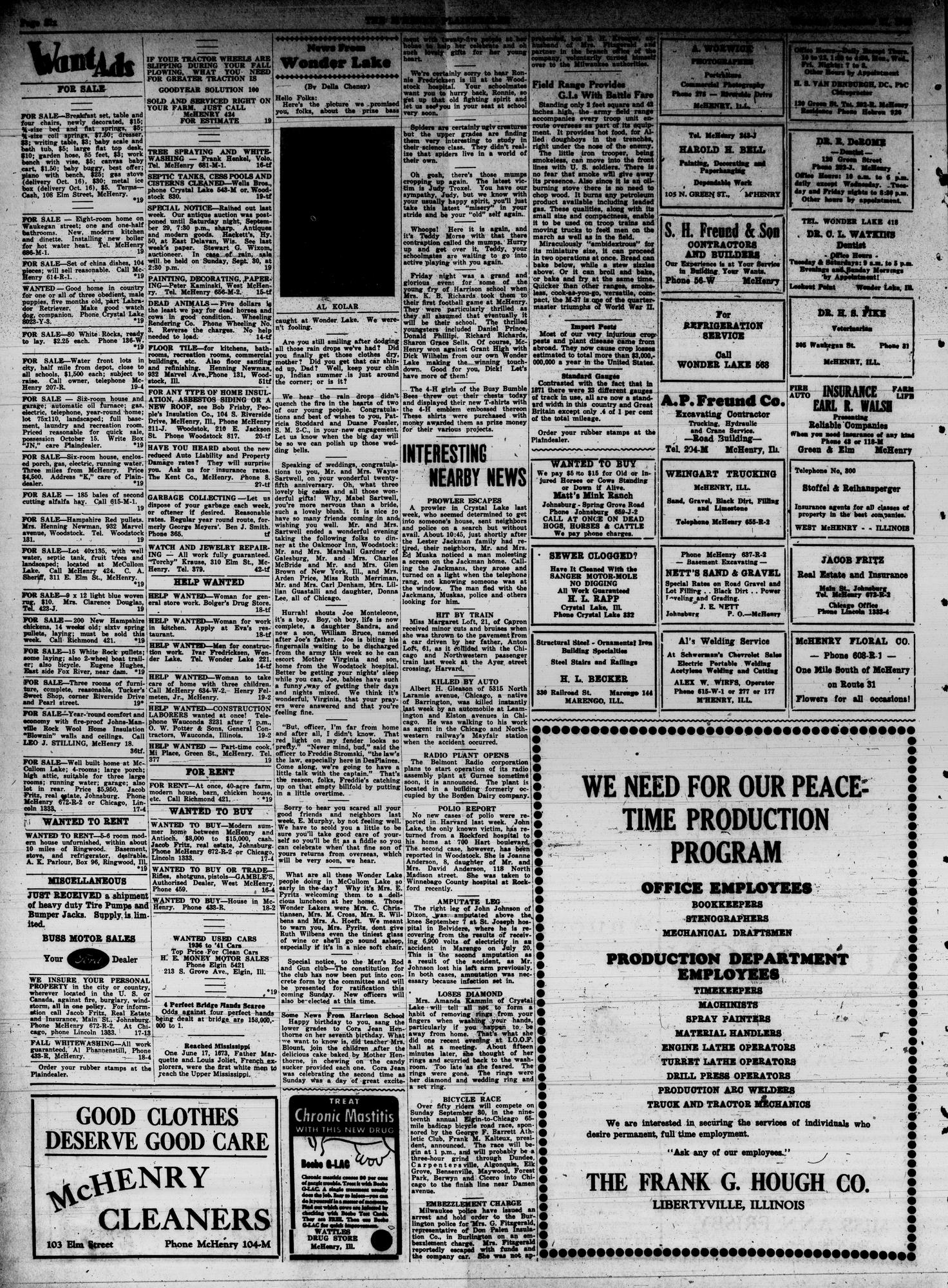McHenry Plaindealer (McHenry, IL), 27 Sep 1945