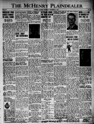 McHenry Plaindealer (McHenry, IL), 15 Nov 1945