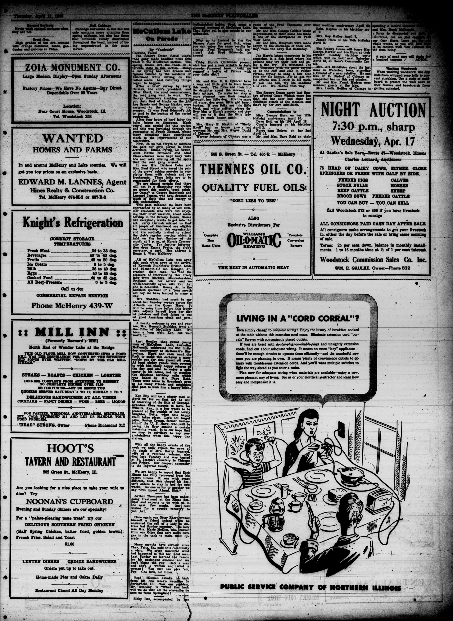 McHenry Plaindealer (McHenry, IL), 11 Apr 1946