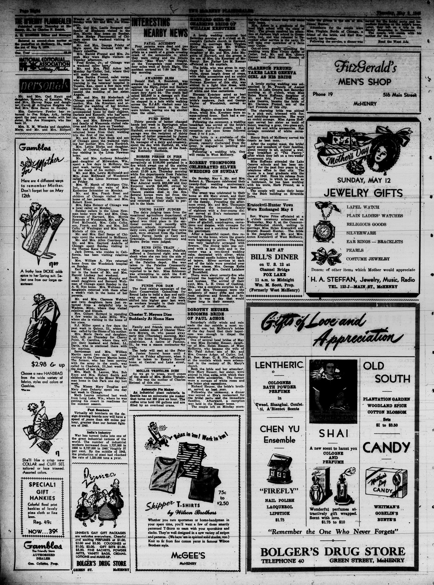 McHenry Plaindealer (McHenry, IL), 9 May 1946