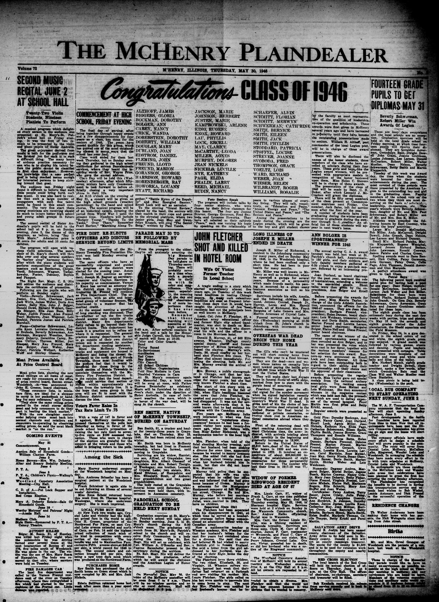 McHenry Plaindealer (McHenry, IL), 30 May 1946
