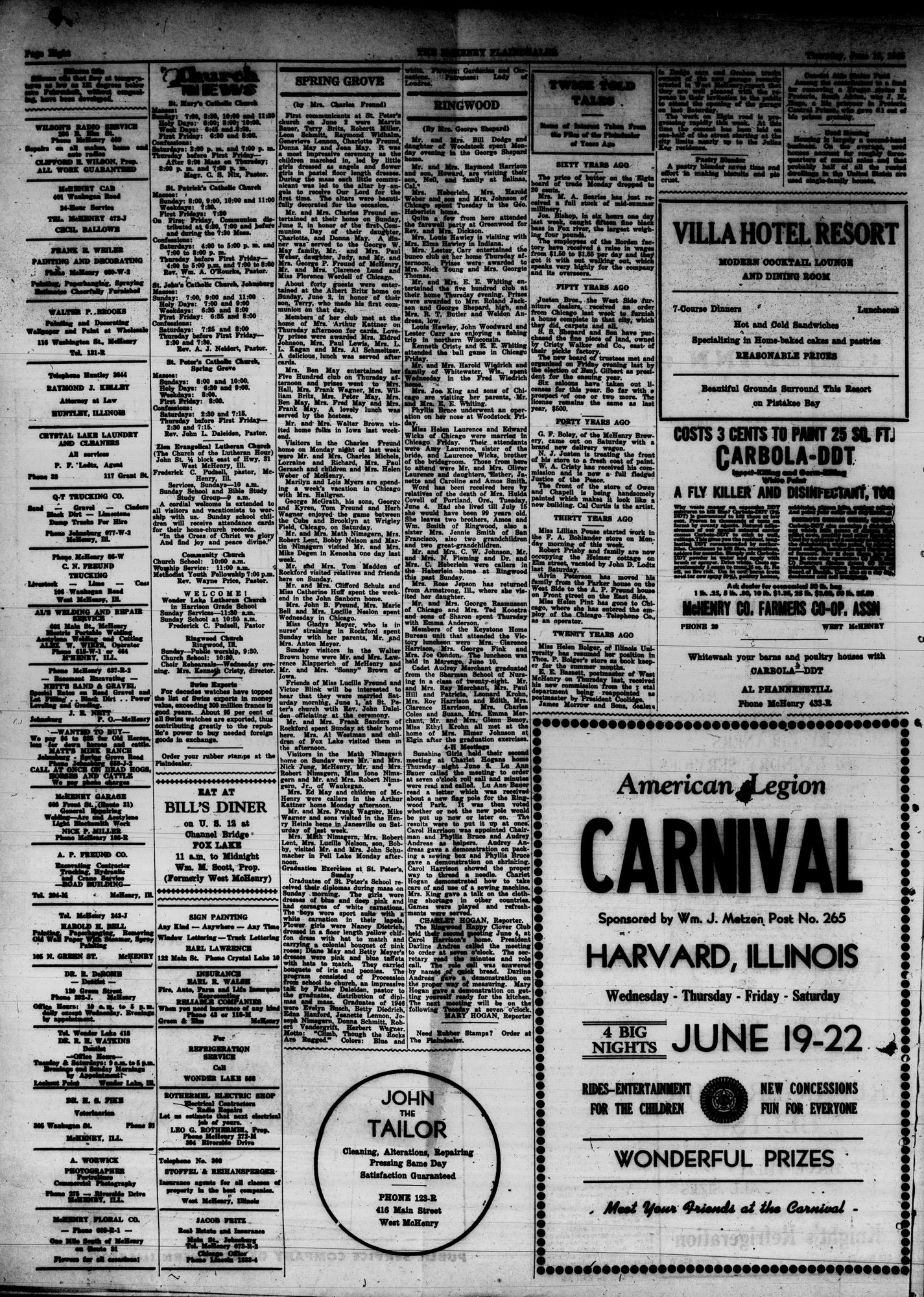 McHenry Plaindealer (McHenry, IL), 13 Jun 1946