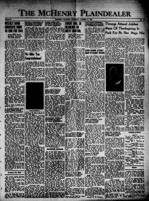 McHenry Plaindealer (McHenry, IL), 15 Aug 1946