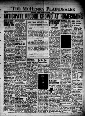 McHenry Plaindealer (McHenry, IL), 3 Oct 1946