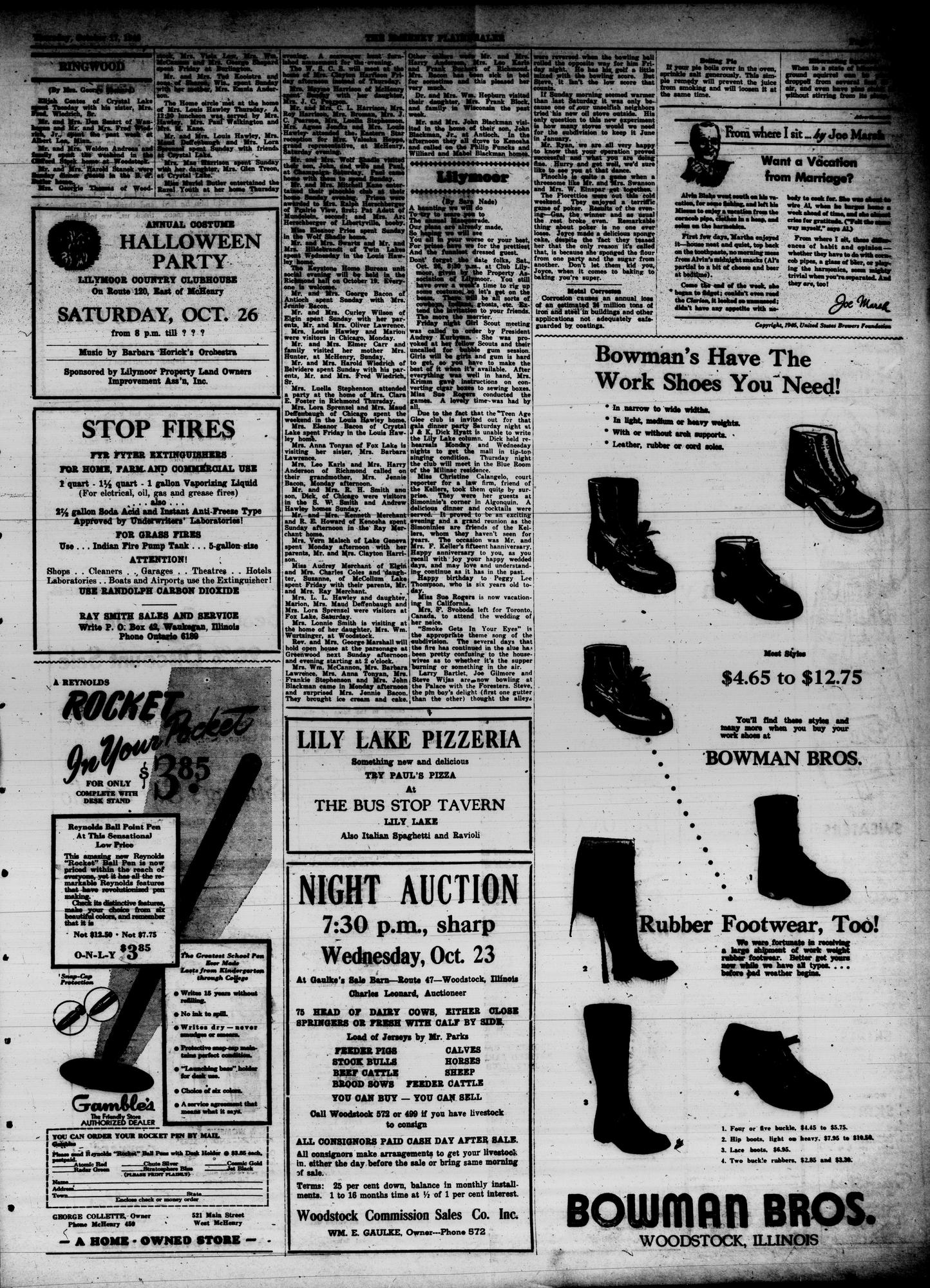 McHenry Plaindealer (McHenry, IL), 17 Oct 1946