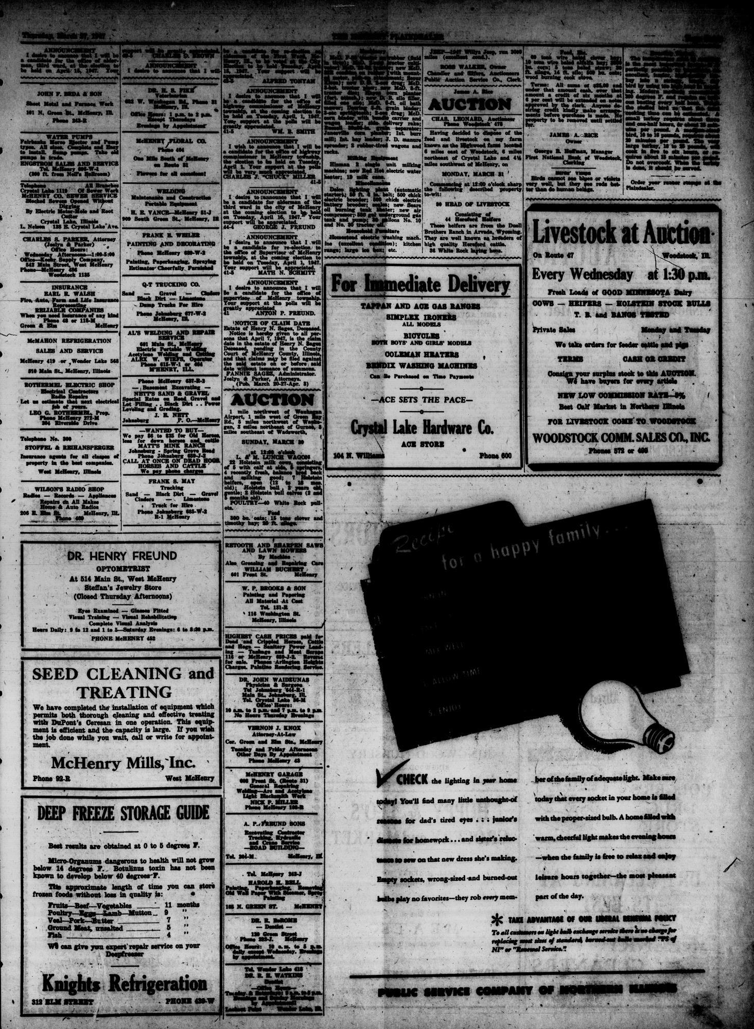 McHenry Plaindealer (McHenry, IL), 27 Mar 1947