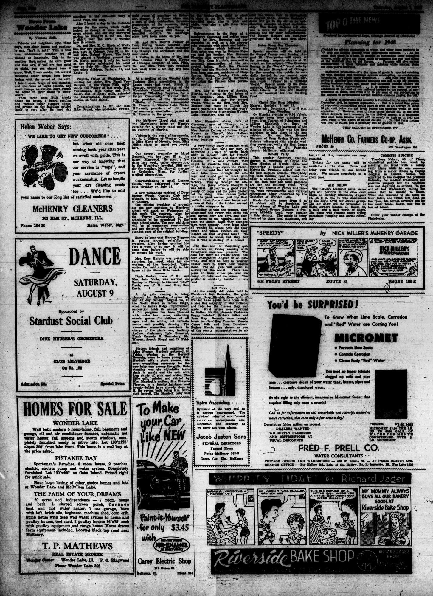 McHenry Plaindealer (McHenry, IL), 7 Aug 1947