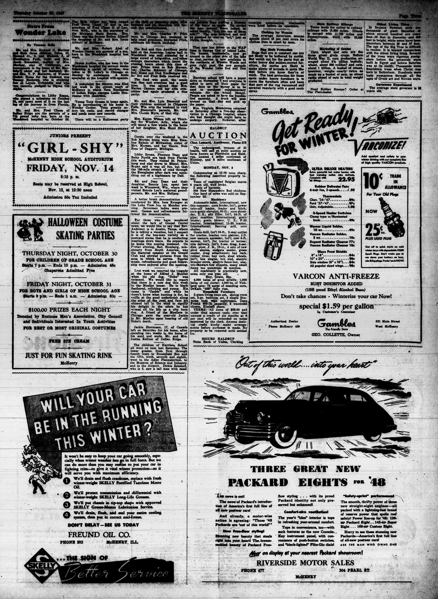 McHenry Plaindealer (McHenry, IL), 30 Oct 1947