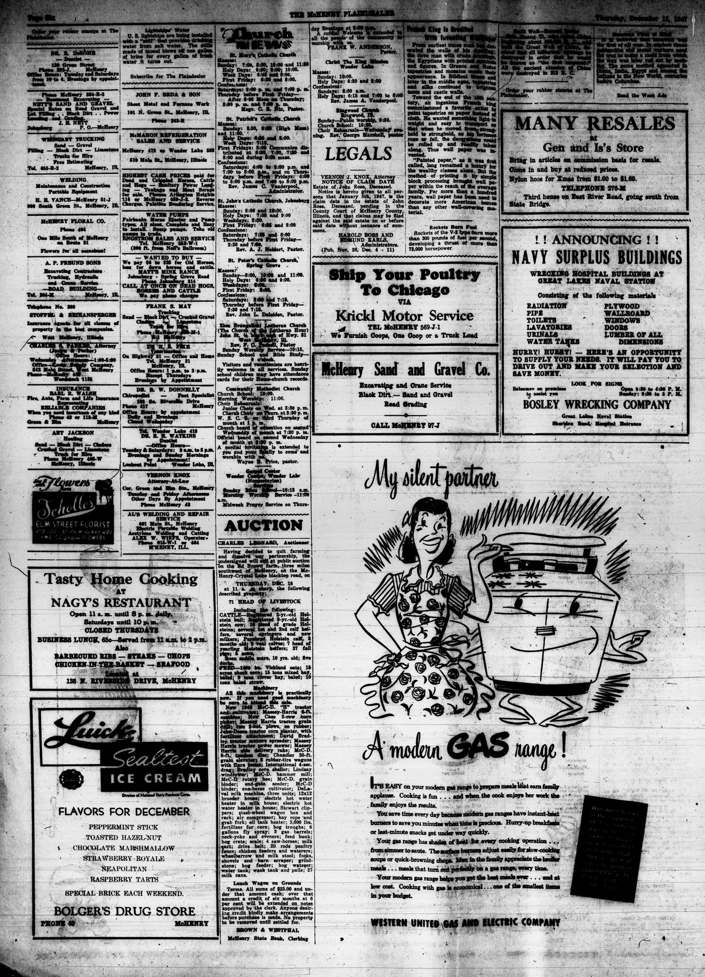McHenry Plaindealer (McHenry, IL), 11 Dec 1947