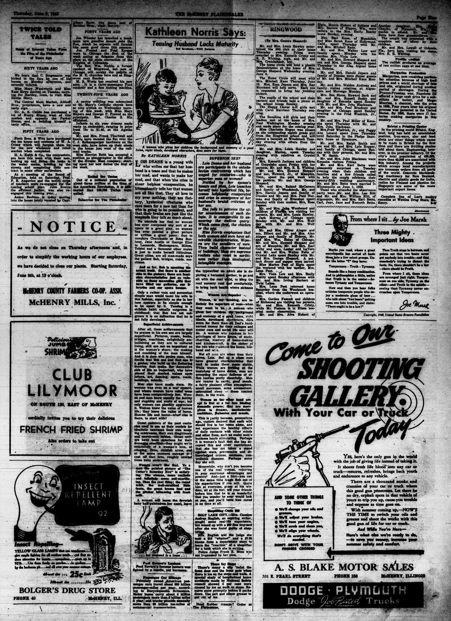McHenry Plaindealer (McHenry, IL), 3 Jun 1948
