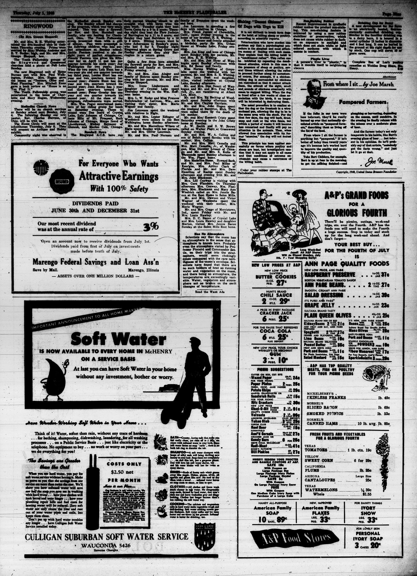 McHenry Plaindealer (McHenry, IL), 1 Jul 1948