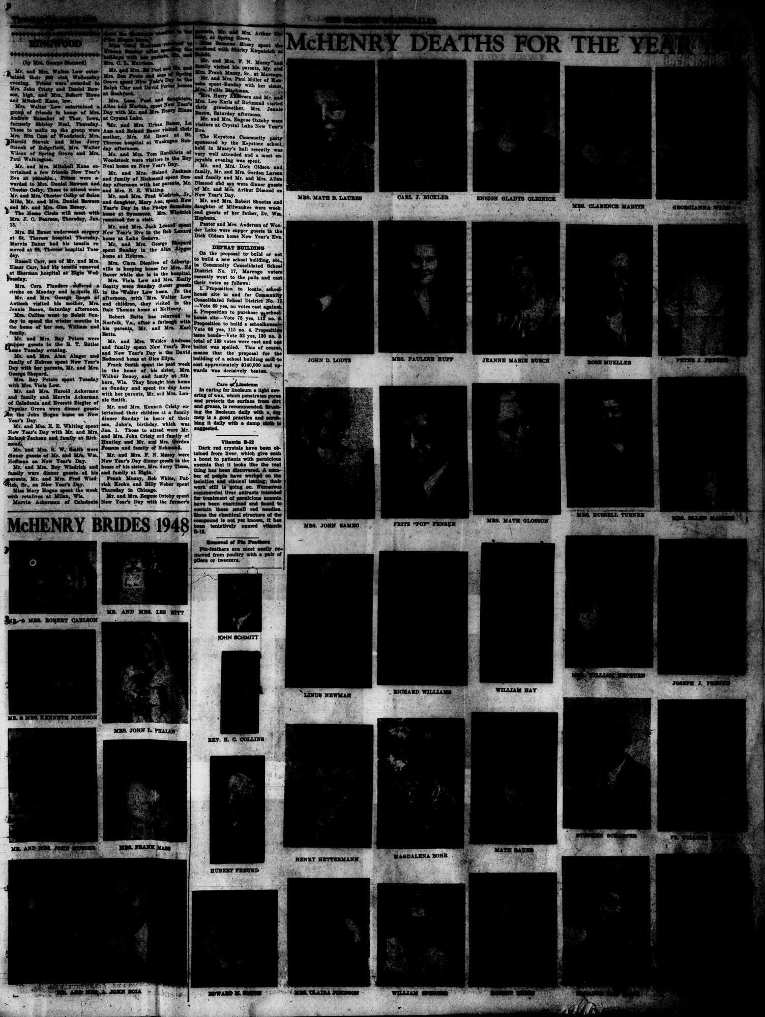 McHenry Plaindealer (McHenry, IL), 6 Jan 1949