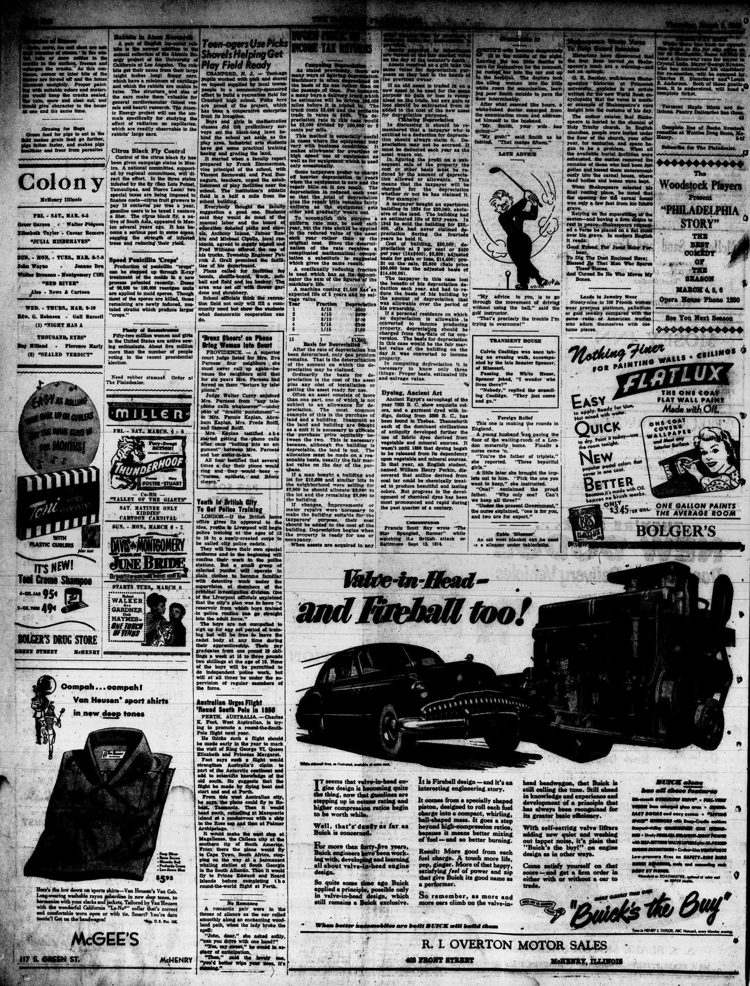 McHenry Plaindealer (McHenry, IL), 3 Mar 1949