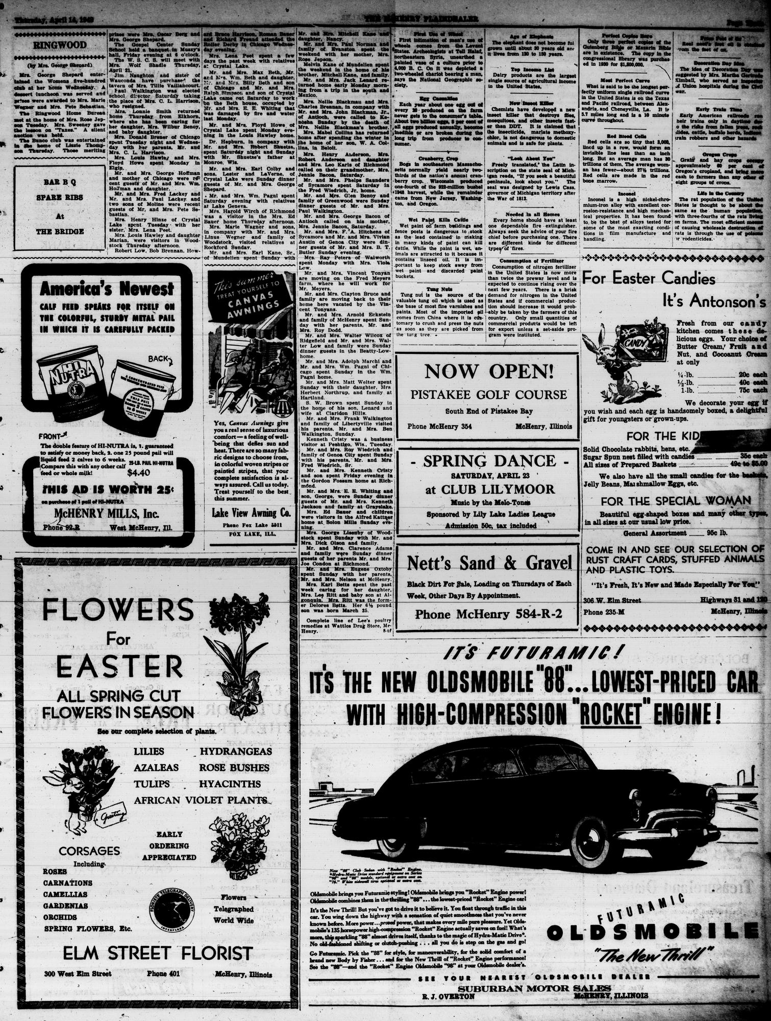 McHenry Plaindealer (McHenry, IL), 14 Apr 1949