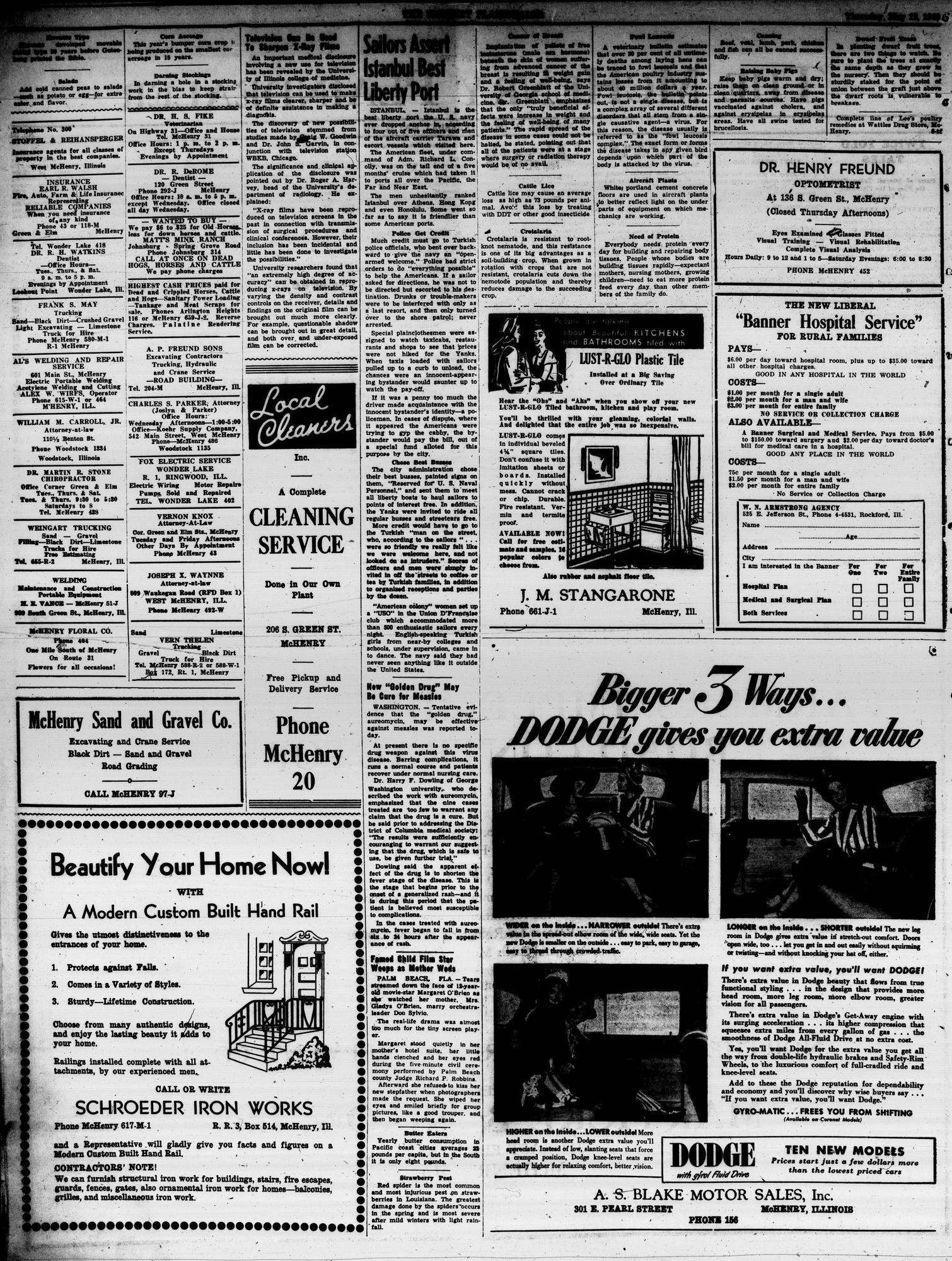 McHenry Plaindealer (McHenry, IL), 12 May 1949