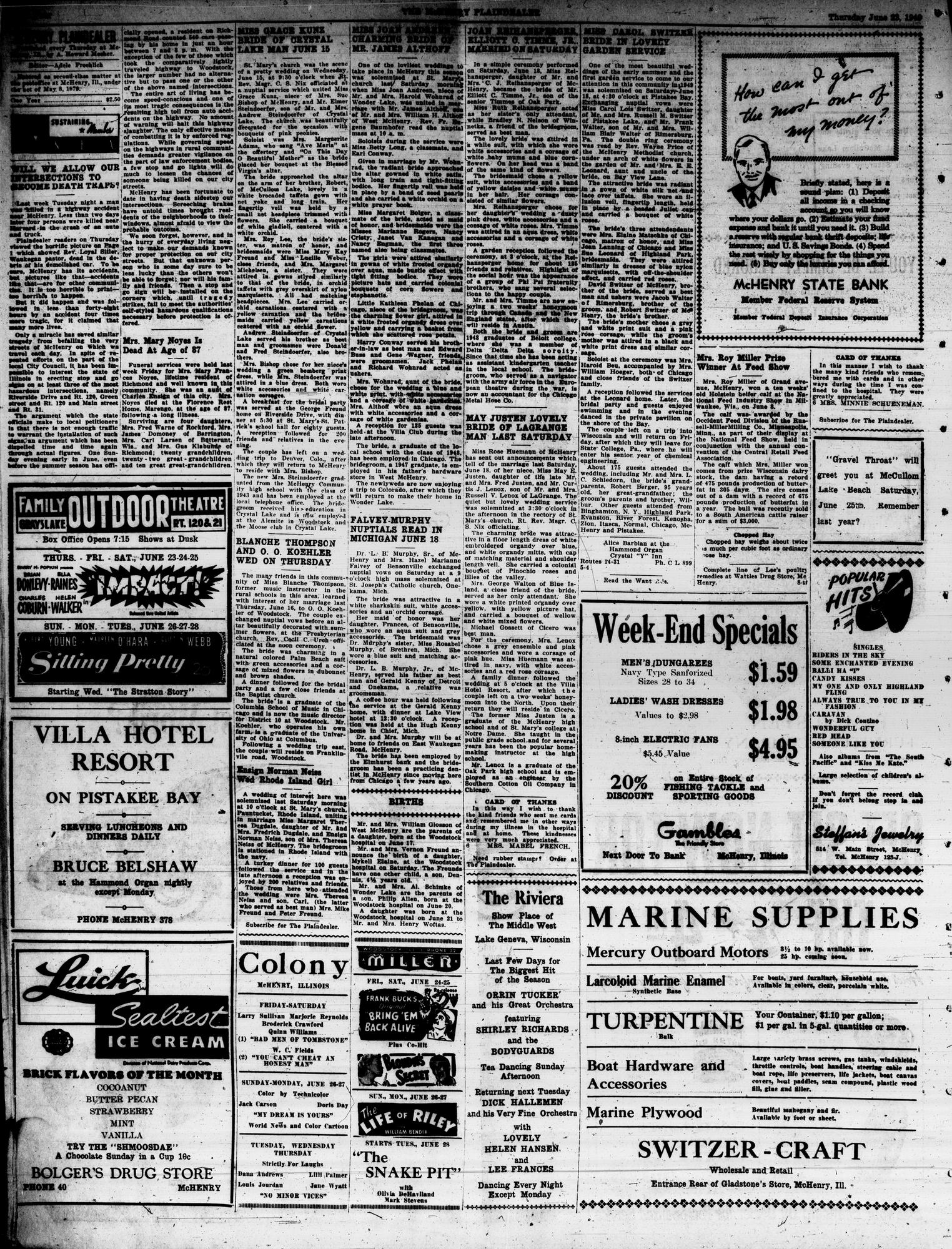 McHenry Plaindealer (McHenry, IL), 23 Jun 1949
