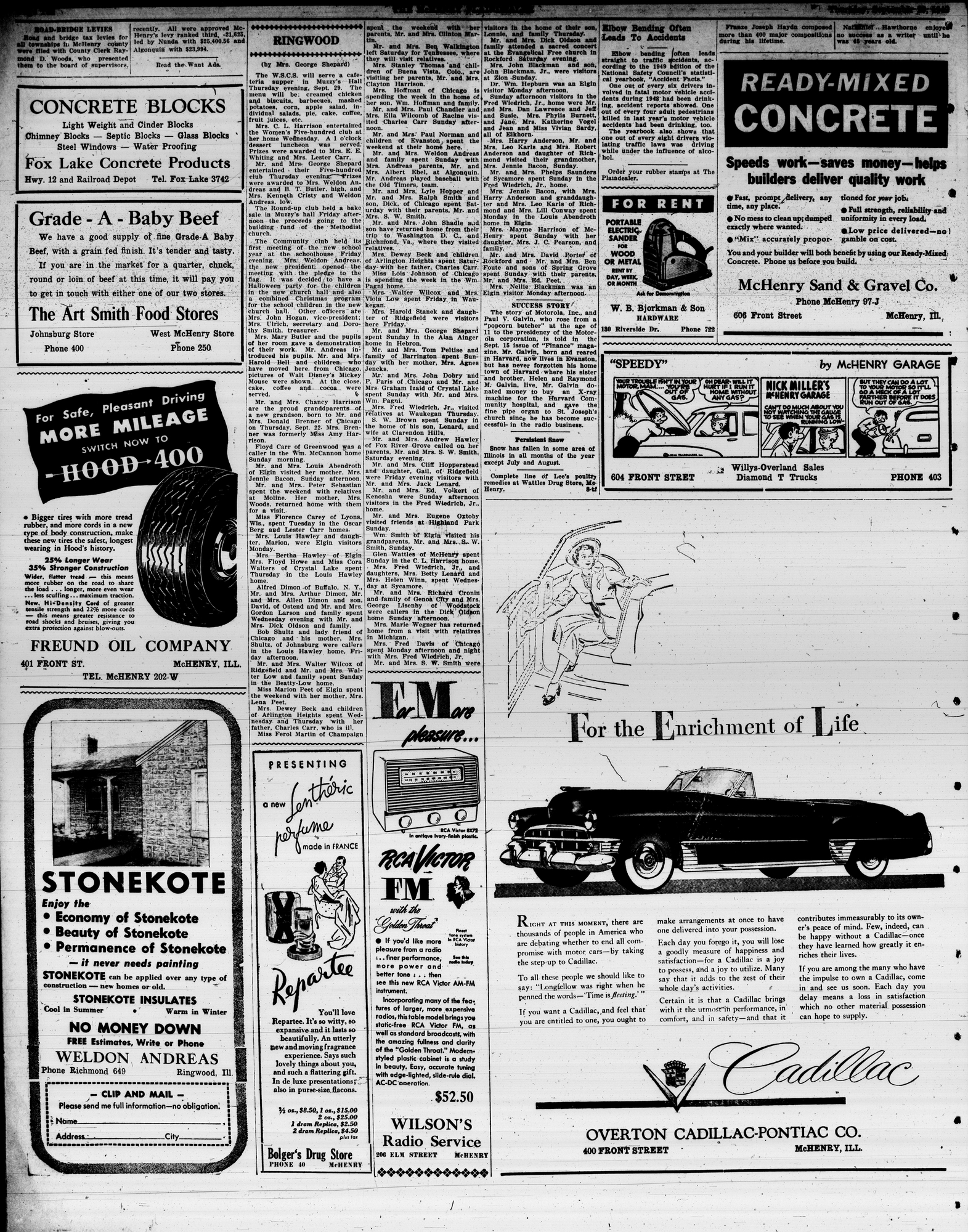McHenry Plaindealer (McHenry, IL), 29 Sep 1949