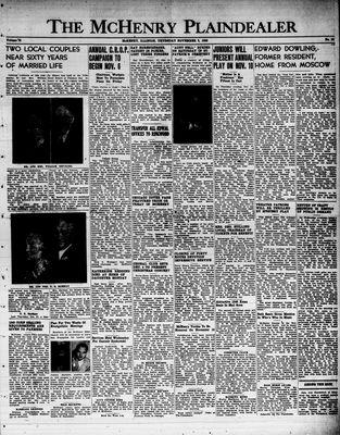 McHenry Plaindealer (McHenry, IL), 3 Nov 1949