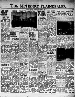 McHenry Plaindealer (McHenry, IL), 17 Nov 1949