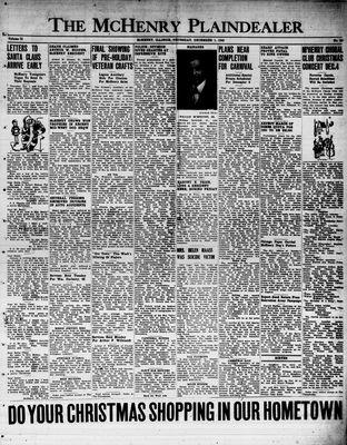 McHenry Plaindealer (McHenry, IL), 1 Dec 1949