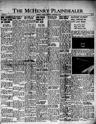 McHenry Plaindealer (McHenry, IL), 15 Dec 1949