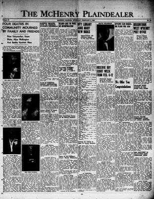 McHenry Plaindealer (McHenry, IL), 2 Feb 1950