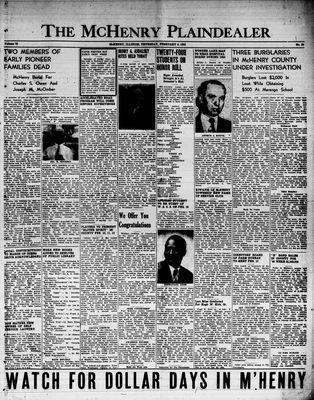 McHenry Plaindealer (McHenry, IL), 9 Feb 1950