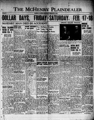 McHenry Plaindealer (McHenry, IL), 16 Feb 1950