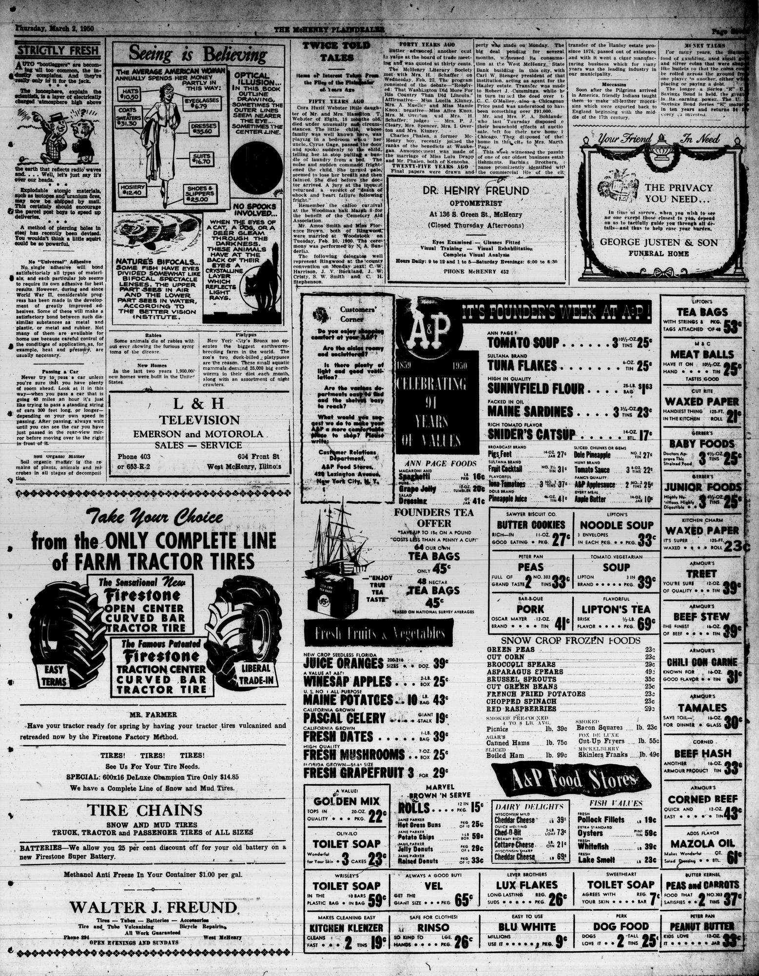 McHenry Plaindealer (McHenry, IL), 2 Mar 1950